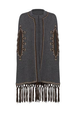 Grey Fringe Embroidered Sweater by CALYPSO St. Barth
