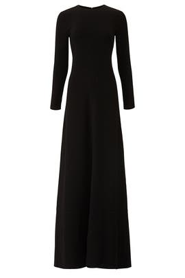 Black Floor Length Gown by Co