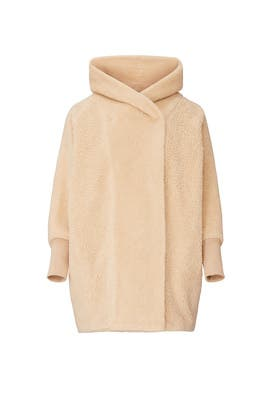 The Faux Shearling Maternity Coco Coat by HATCH