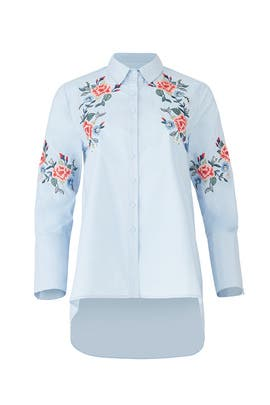 Blue Flower Collar Shirt by J.O.A.