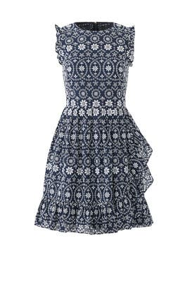 Navy Eyelet Dress by kate spade new york
