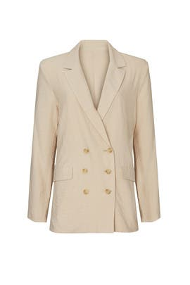 Beige Double Breasted Blazer by Love, Whit by Whitney Port