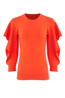 Flounce Sleeve Sweater by Opening Ceremony