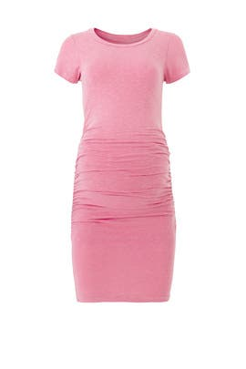 Pink Ruched Maternity Sheath by Sundry