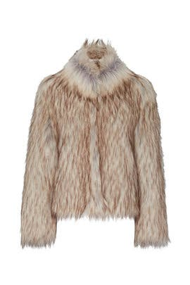 Natural Faux Fur Delish Jacket by Unreal Fur