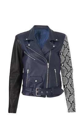 e4b93b96d VEDA Jayne Combo Leather Jacket