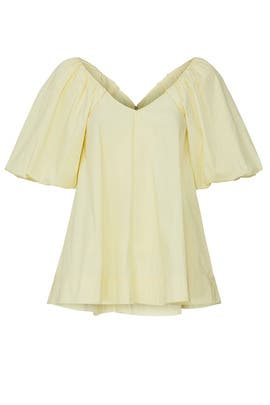 Yellow Puff Sleeve Top by Co