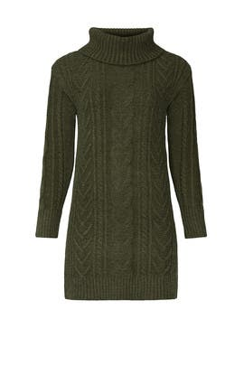 Olive Knit Penelope Sweater Dress by HEARTLOOM