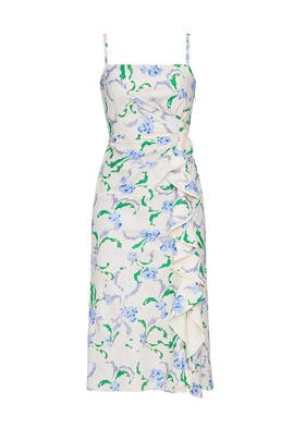 Floral Side Ruffle Dress by Prabal Gurung Collective