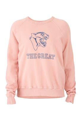 Vintage Rose College Sweatshirt by The Great.