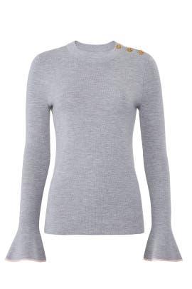 Grey Kimberly Sweater by Tory Burch