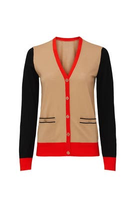 Colorblock Madeline Cardigan by Tory Burch