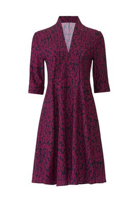 Plum Animal Printed Dress by Derek Lam Collective