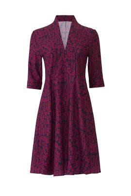 Plum Animal Printed Dress by Derek Lam Collective