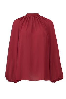 Red Drape Blouse by Giamba