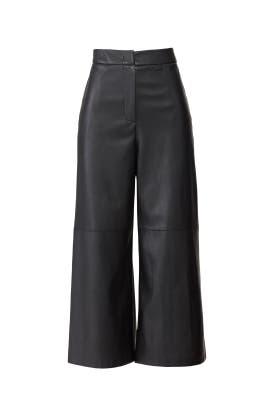 Faux Leather Culotte Pants by Goen. J
