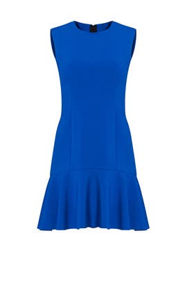 Blue Tiered Ruffle Dress by Jason Wu Collection