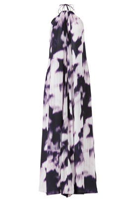 Purple Print Halter Maxi by KAUFMANFRANCO
