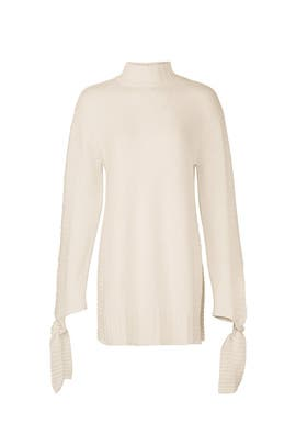 Ivory Side Slit Sweater by Moon River