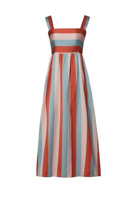 8cbf0c3e255 Multi Striped Midi Dress by RED Valentino for  120 -  130