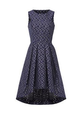 Metallic Dot Jacquard Dress by Shoshanna