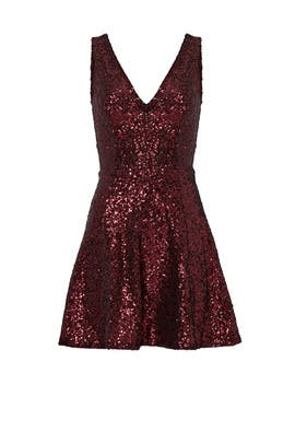Red Sequin Shimmy Dress by Slate & Willow