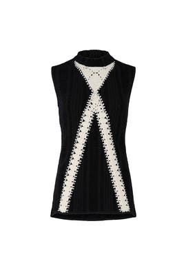 Crochet Sleeveless Sweater by Thakoon Collective