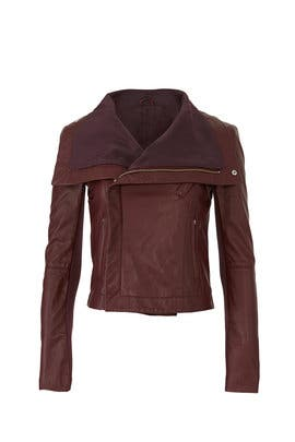 Merlot Max Leather Jacket by VEDA