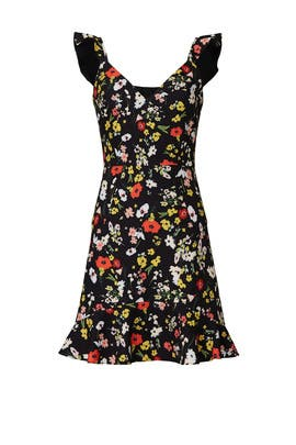Black Floral Crepe Dress by Aidan AIDAN MATTOX