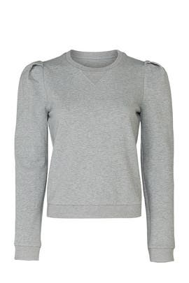 Grey Puff Sleeve Sweatshirt by Adam Lippes Collective