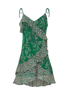 Green Floral Mini Dress by ASTR