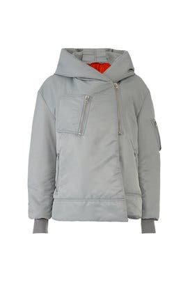 Light Grey Big Bomber Jacket by Bacon