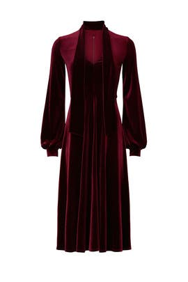 Red Velvet Ruby Dress by Black Halo