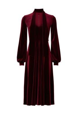 Red Velvet Ruby Dress by Black Halo