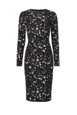 56da0d4858 Prairie Floral Fitted Dress by Cynthia Rowley