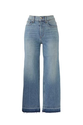 Dylan Wide Leg Denim Culottes by Derek Lam 10 Crosby
