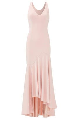 Blush Flutter Cut Gown by Jay Godfrey