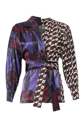 Combo Printed Wrap Top by Marni