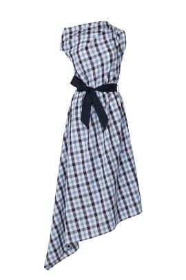 Asymmetrical Draped Dress by Martin Grant