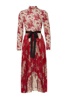 Pleated Mixed Floral Dress by RED Valentino