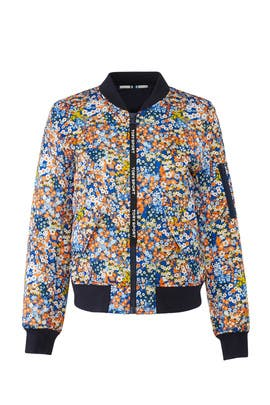 Printed Satin Bomber Jacket by Tory Sport