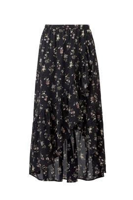 Emer Faux Wrap Ruffle Skirt by B Collection by Bobeau