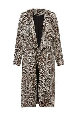 Leopard Long Jacket by Badgley Mischka