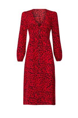 Red Cheetah Dress by CAARA