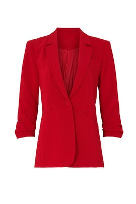 Red Khloe Blazer by Cinq à Sept