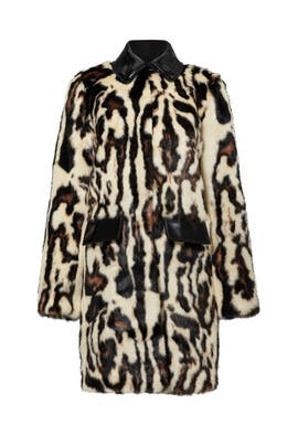 Animal Print Faux Fur Coat by Carven