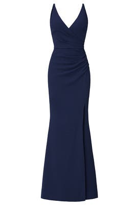 Navy Jordan Gown by Dress The Population