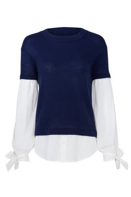Navy Flare Sweater by devlin