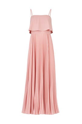 Rose Water Pleated Gown by Jill Jill Stuart