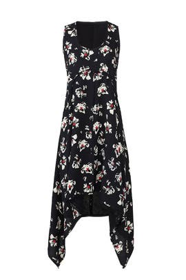 Floral Hankerchief Hem Dress by Proenza Schouler